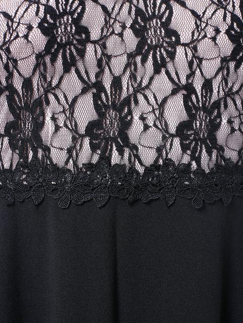 Plus Size Lace Applique Floor Length Dress