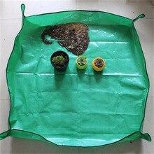 High Quality PE Film Waterproof Flower Transplanting Pot Pad Foldable Garden Kneelers Work Cloth Mat Flower Green Plant Tools