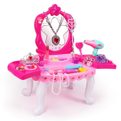 Meninas princesa penteadeira maquiagem conjunto beleza fingir jogar brinquedos crianças presente de aniversário presente caixa menina brinquedos