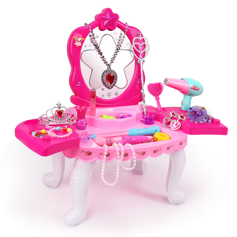 Girls Princess Dressing Table Makeup Set  Beauty Pretend Play Toys Kids Birthday Gift  Gift Box  Girl Toys