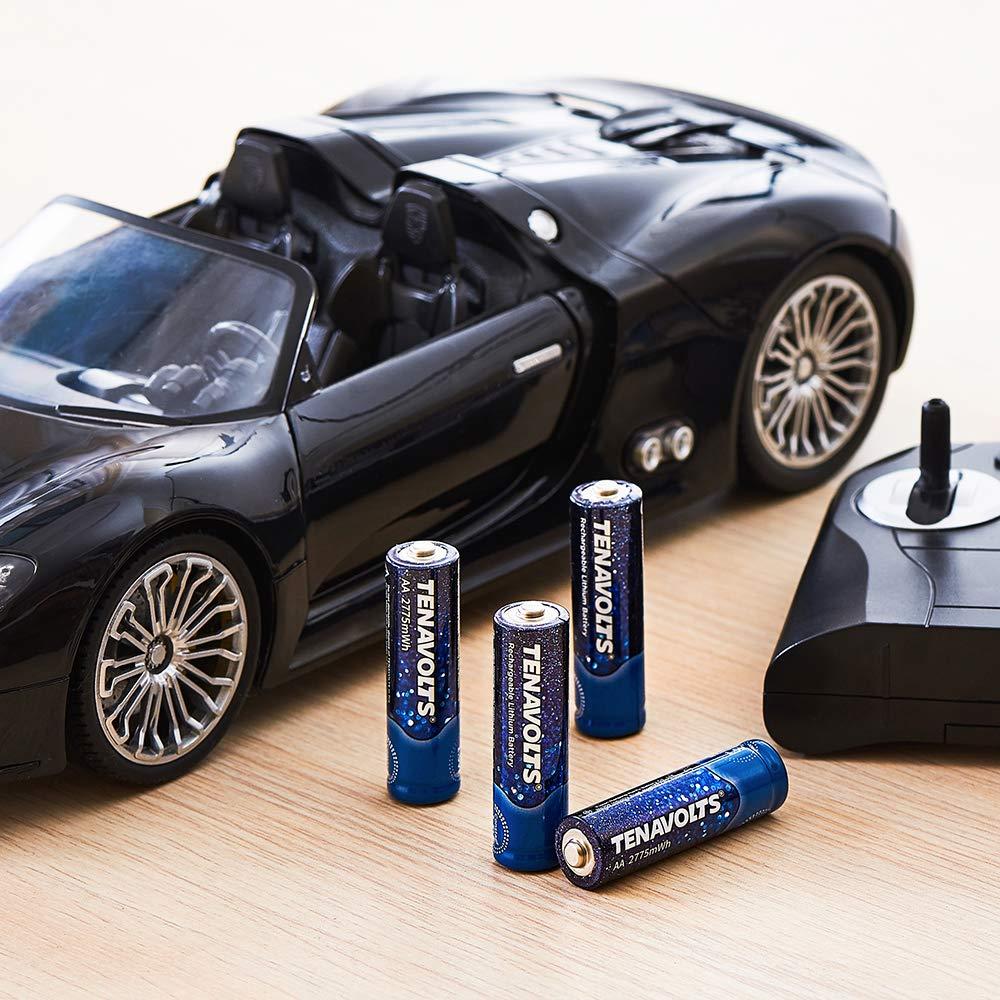 NANFU 8 шт. AA Аккумуляторная батарея с зарядным устройством TENAVOLTS Предварительно заряженный 2 Abatteries 2775 mWh литий ионный 1,5 в - 6