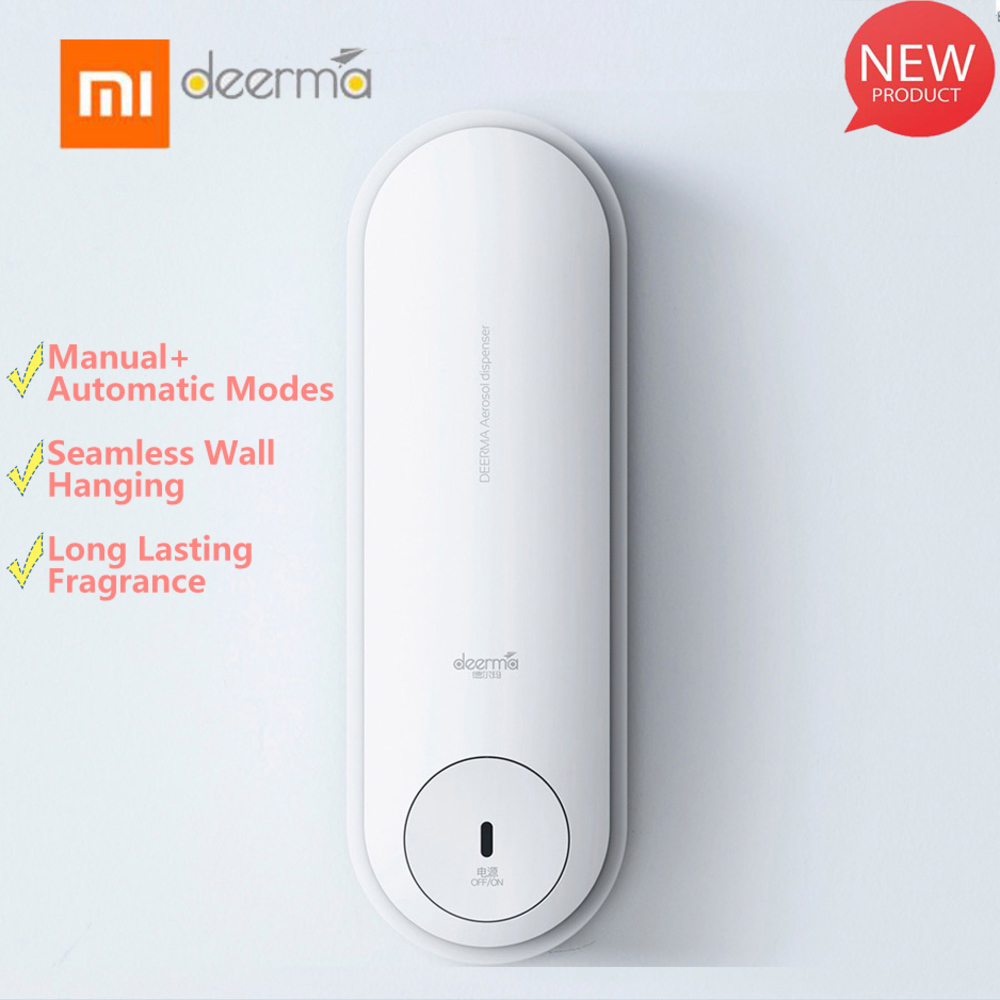 Original <font><b>Xiaomi</b></font> mijia home Deerma Dempx830 Slide Type Seamless Wall Hanging Automatic Manual Aerosol Dispenser By <font><b>Xiaomi</b></font> <font><b>Youpin</b></font> image