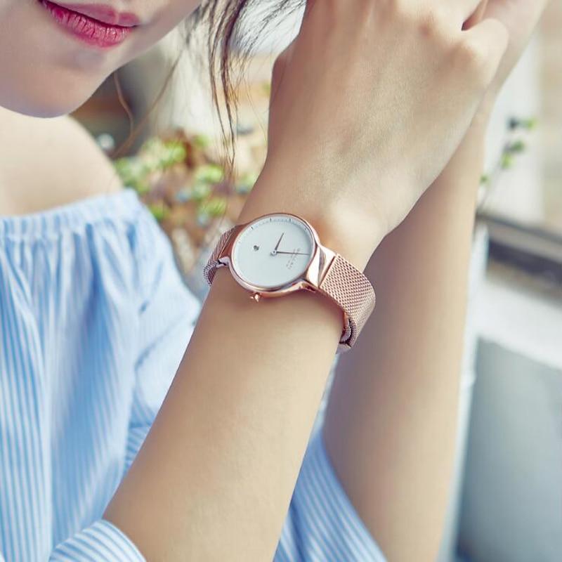 2019 Com a Avaliação de Jóias Liquidação de Fábrica Natural Preto Ágata Pulseira Relógios Automático Relógio De Quartzo Das Mulheres UM Se Comprometa - 4