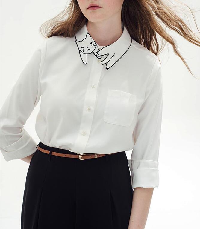 how to cut a cute collar for shirt