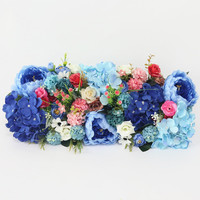 Flone Artificial Flower Row Hand Made Simulation Silk Fake Flower Mixing Flower Row For Wedding Arch Door Hotel Party DIY Decor