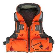 Взрослый полиэстер плавательный спасательный жилет профессиональный спасательный жилет для дрейфующих лодок выживания рыбалки куртка для водного спорта Одежда