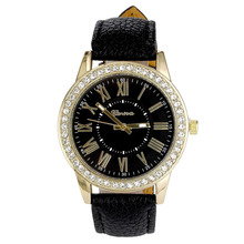 Набора римские женева relojes цифры хрусталь mujer горный кварцевые кожаный наручные