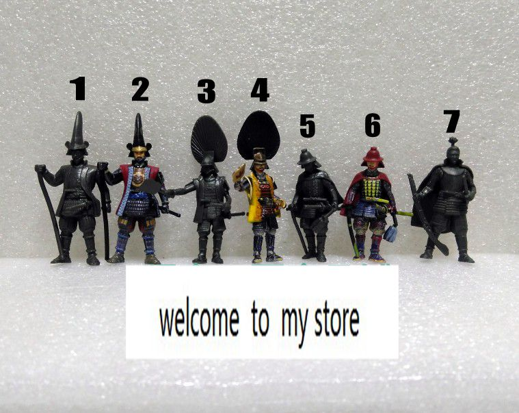 super mini figure model toy gift Samurai Sengoku Ancient Soldier 7PCS/set rare set free shipping super affordable military base 310pcs set plastics toy soldier sand table model army soldier boy christmas gifts