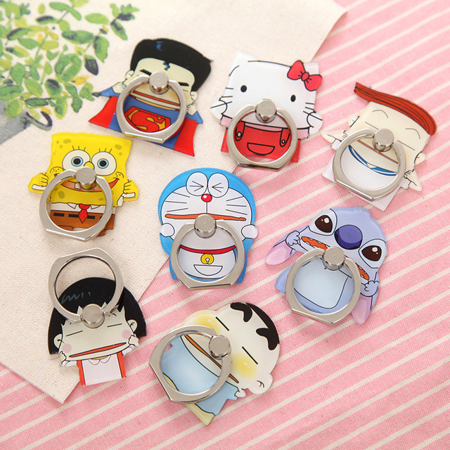 cartoon Lovers Metal Ring Universal Mobile Cell Phone Stand Holder for Smartphone&Samsung&iphone Adjustable Support Phone Holder