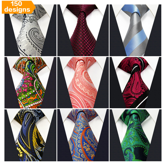 Free Shipping pcs lot Assorted Wholesale Mens Tie Neckties Wedding Classic 100 Silk Fashion