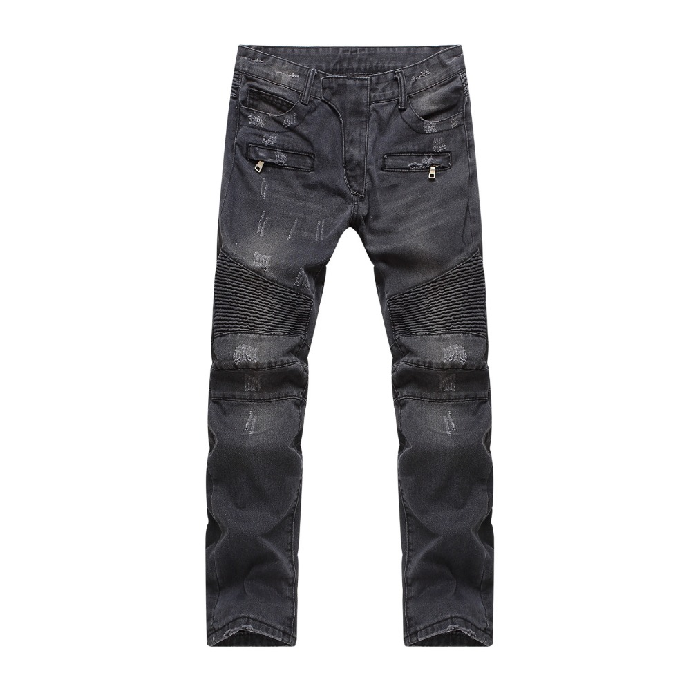 Mens Ripped Stretch Elastic Designer Biker Styles Black Denim Dark Skinny Destroyed Motorbike Jeans Pants smart home uk standard crystal glass panel wireless remote control 1 gang 1 way wall touch switch screen light switch ac 220v