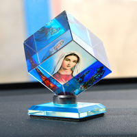Special Offer BEST gift Catholicism Christianity Holy Mary Mother of God Jesus Christ 3D Crystal Magic cube decoration statue