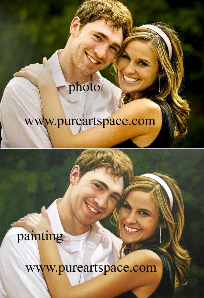Изготовленный На Заказ Handpainted обслуживание картины маслом для портрета/ландшафта/Stilllife-Featured service by Pure Art Space