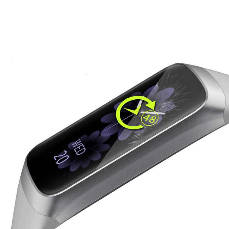 5pcs Molle di TPU Completa Protezione Della Pellicola Della Protezione Per Samsung orologio Galaxy Fit R370/ Fit-e R375 Smart wristband Dello Schermo Della Copertura Della Protezione