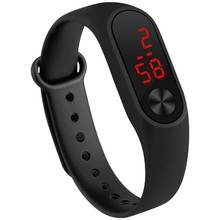 2017 Fashion LED Digital Sport Watches Silicone Rubber Running Watch Date Time Men Women Stude Bracelet WristWatches Cheap Price