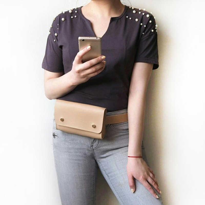 Mihaivina ファッション女性 Pu レザーウエストパック女性少女旅行ベルトバッグパック新加入ファニーバッグ胸ハンドバッグ