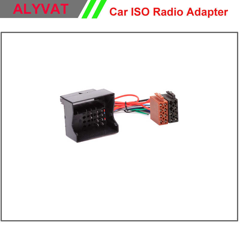 Car ISO Radio Plug For VW Volkswagen Golf Pat Touareg ... Vw Golf Stereo Wiring Harness on vw fog lights harness, vw passat stereo install, vw compass wiring harness, vw engine wiring harness,
