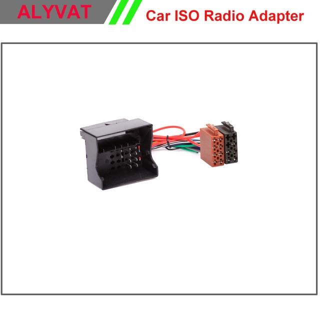 Enchufe de Radio ISO para coche VW Passat Volkswagen Golf Touareg Touran Audi Skoda asiento plomo telar cableado arnés Cable adaptador