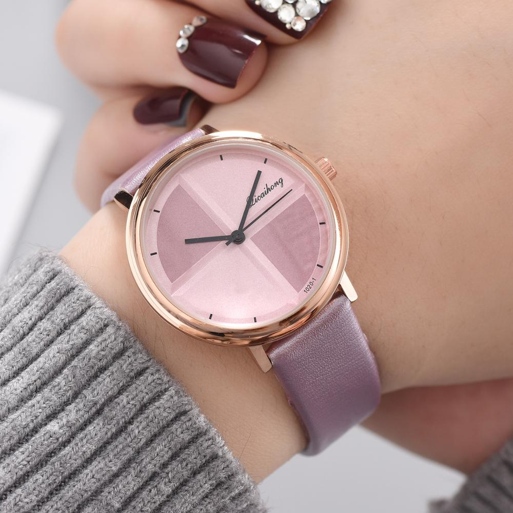 Exquisite Simple Style Women Watches Small Fashion Quartz Ladies Watch Drop shipping Top Brand Elegant Leather Bracelet Watches in Women 39 s Watches from Watches