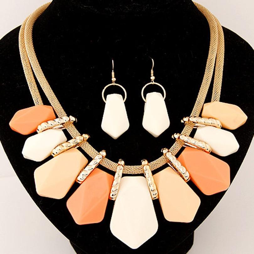 Collar llamativo Moda para mujer 2018 gargantilla conjunto femenino - Bisutería - foto 2