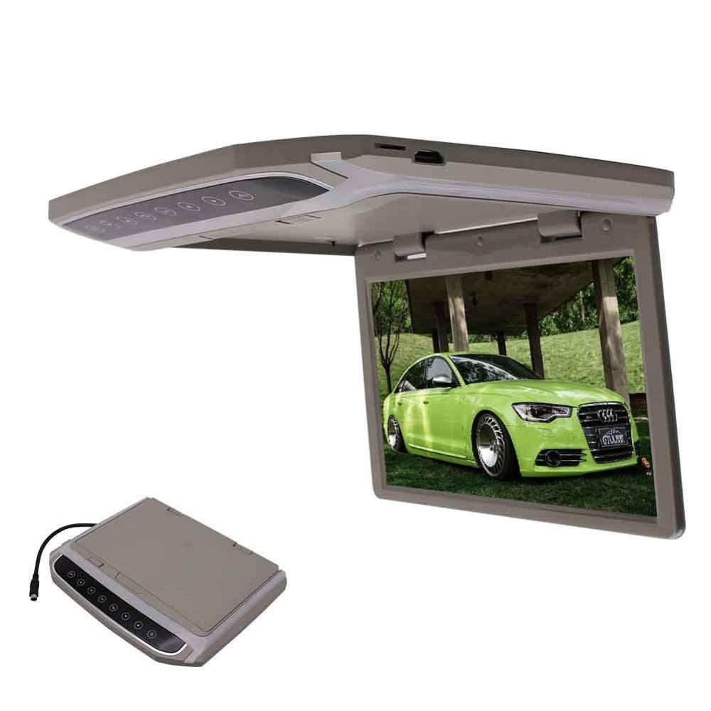 EinCar Grey 10.2''LCD TFT Screen Overhead Video car Monitor with FM Transmitter + Wireless Remote Control niorfnio portable 0 6w fm transmitter mp3 broadcast radio transmitter for car meeting tour guide y4409b