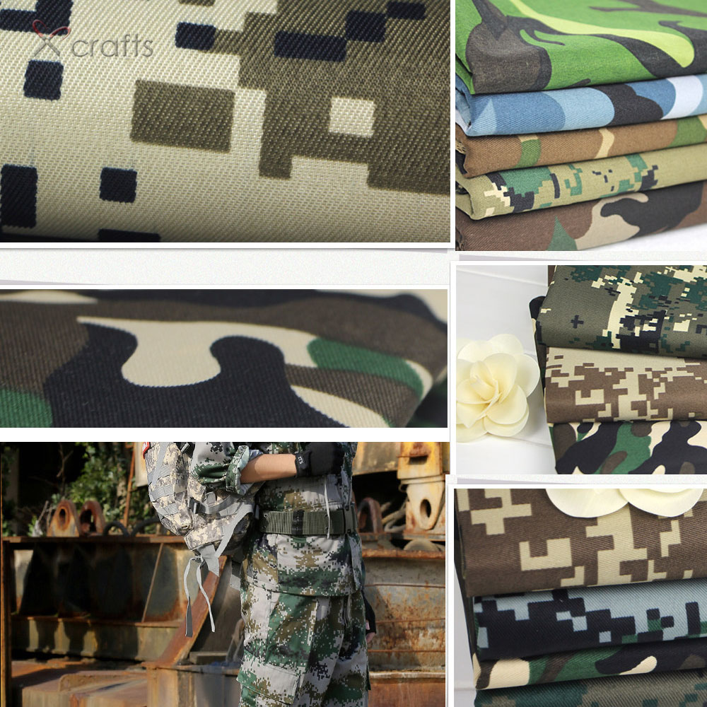 PPCrafts Camouflage fabrics of pure cotton army green military uniforms field digital urban Desert Camo cloth