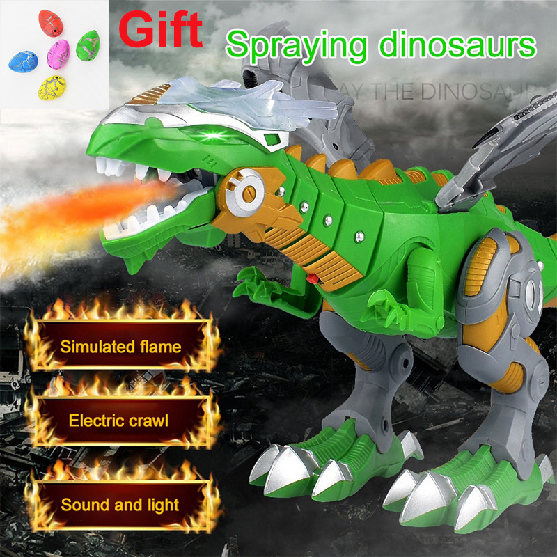 Electric Interactive Toys Spraying Fire Dragon Dinosaurs Talking and Walking Toys Fire Dragons Christmas Gift Toys for Children