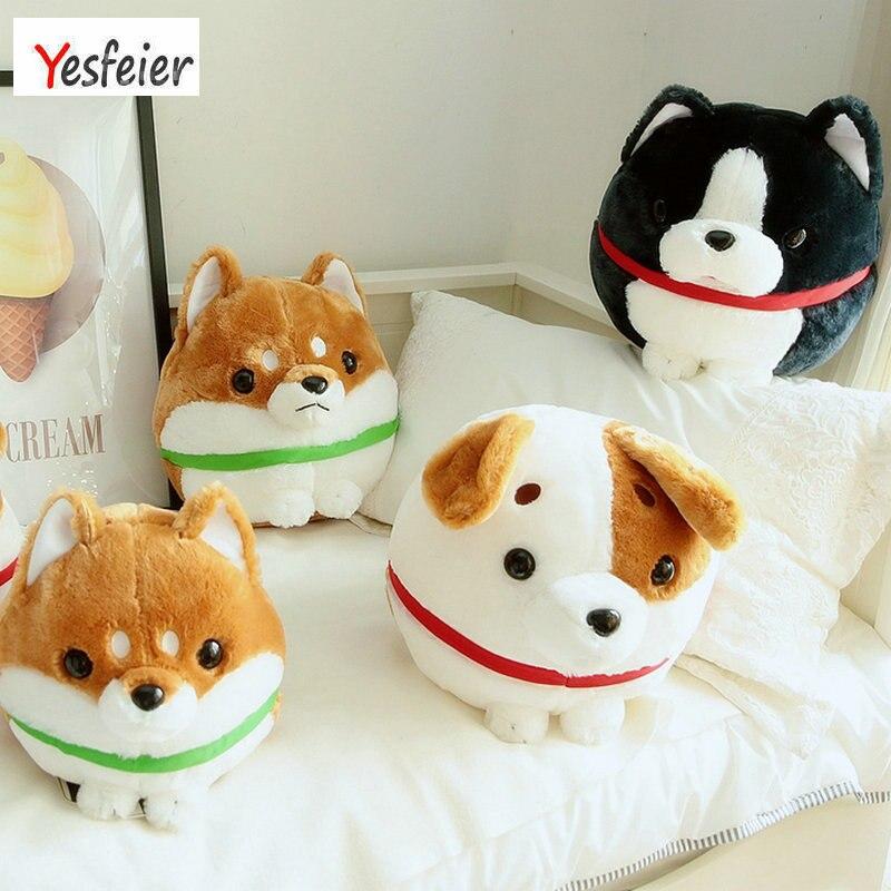 30/40cm Yesfeier Plush Pomeranian Dog Toy Animals Shiba Inu Doll Baby Kids Birthday Gift Baby Dolls Soft shiba inu dog japanese doll toy doge dog plush cute cosplay gift 25cm