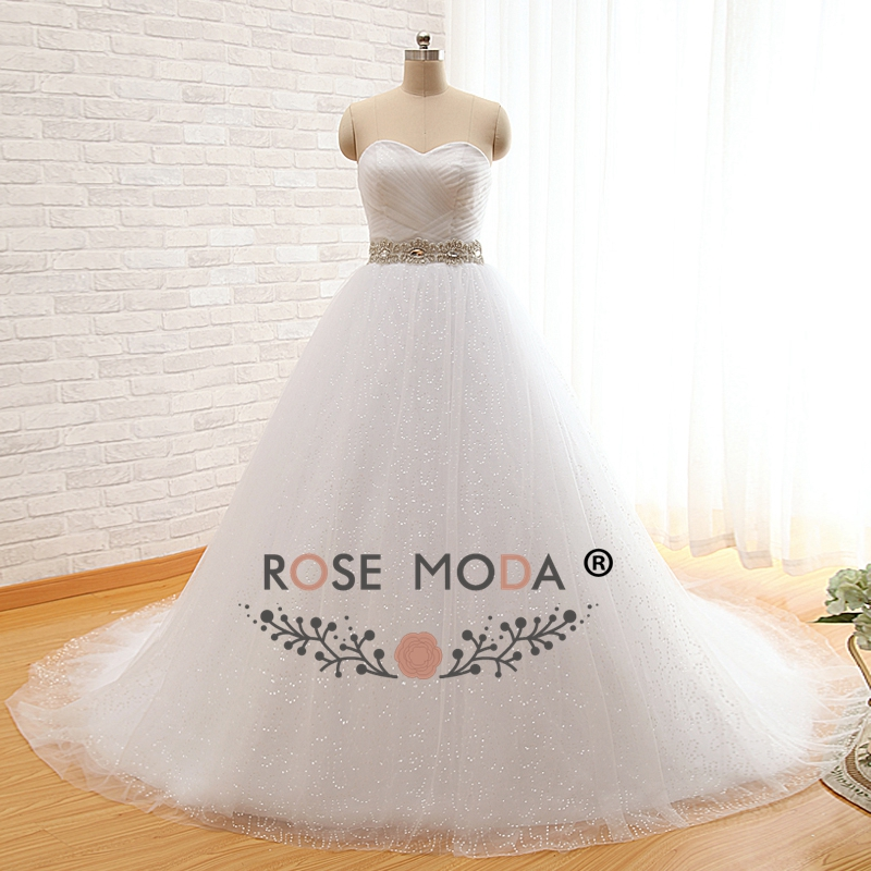 Rose Moda Bling Princess Ball Gown Sweetheart Puffy Tulle