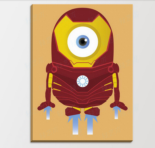 Anime Game Minion Hero Iron Man Yellow PopCartoon Movie Poster ...