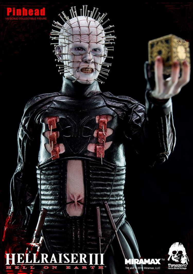 1/6 scale figure Hellraiser III: Hell on Earth Horrible Pinhead 12 Action figure doll Collectible Model plastic toy bprd hell on earth v 7