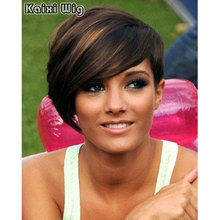 Short Pixie Wig Women Black Women's Hairstyle African American Short Wigs For Black Women Short Brown Ombre Wig Synthetic Wigs