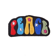 Cute Letters Iron on Embroidered Patches for Clothing Applique Welcome to customize Any design qty