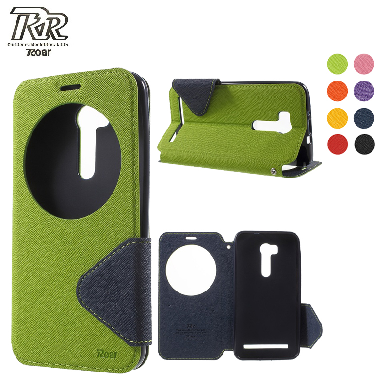 Roar Korea for Asus Zenfone Go TV ZB551KL Phone Case Diary Series Window Wallet Stand Leather Cover go tv zb551kl Flip Shell Bag