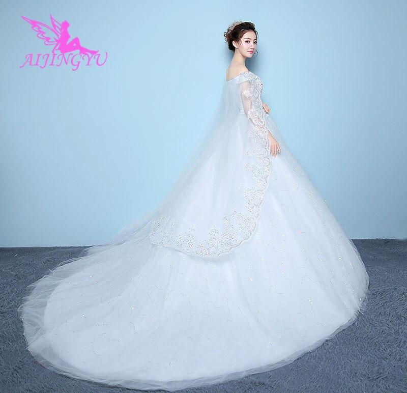 AIJINGYU dresses party long simple wedding belt bride dress WK222
