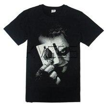 Бэтмен Темный рыцарь Джокер хлопковая Футболка с принтом с круглым вырезом для мужчин футболка Косплей Костюм рубашки плюс Размеры Бесплатная доставка
