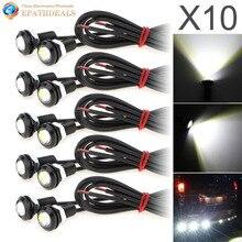 цена на 10pcs! 9W 18MM White 5730 LED Eagle Eye Auto Car Fog Light DRL Bulb Turn Signal Reverse Backup Corner Stop Parking Tail Lamp
