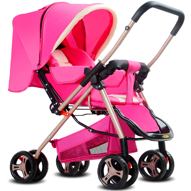 Super Lightweight Stroller Can Sit And Lie Four Wheel Barrow Bidirectional Shock Proof Foldable Umbrella Car aulonstrollers can sit lie lightweight portable folding baby four summer and winter pocket umbrella stroller free shipping