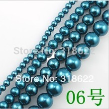 Wholesale! 4mm/6mm/8mm/10mm/12mm/14mm/16mm #06 Glass Beads Round Imitation Loose Pearl Bead Free shipping