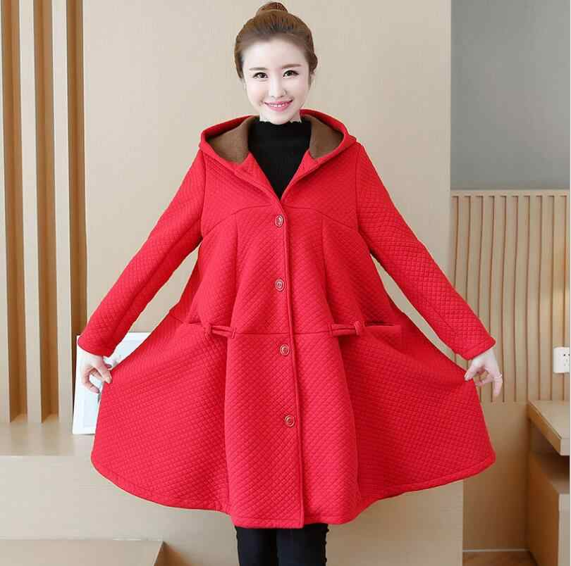 Autumn Winter Maternity jackets Coat Casual Warm Jackets outwear pregnancy clothes for pregnant women hooded pregnant parkas