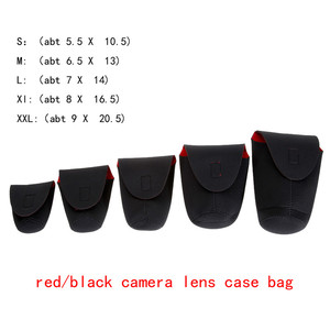 Image 5 - 5Pcs/Lot Soft Waterproof Neoprene DSLR Camera Bag Lens Pouch Cover Flexible Protector Case for Canon Nikon Sony Covers Promotion