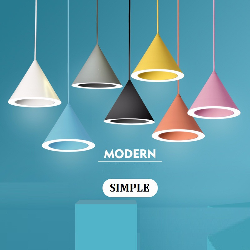 Simple Loft Style Color Iron Droplight Lamp Modern LED Pendant Light Fixtures For Dining Room HangingLamp Indoor Lighting edison inustrial loft vintage amber glass basin pendant lights lamp for cafe bar hall bedroom club dining room droplight decor