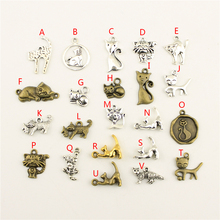 20Pcs Wholesale Bulk Diy Jewelry Accessories Cat Hand Made Charms Charm Women Backless Dress HK062