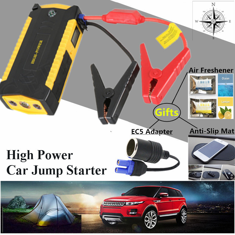 2017 Starting Device High Capacity 12V Diesel Petrol Car Jump Starter 600A Car Battery Charger 4USB Power Bank Compass Free Ship 2017 hot high capacity 12v petrol diesel car jump starter 600a peak car battery charger mini 4usb power bank sos light free ship