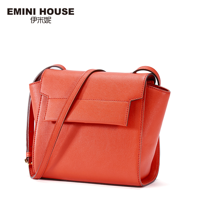 EMINI HOUSE Trapeze Flap Bag Split Leather Fashion Women Messenger Bags Women Shoulder Bag Slim Straps Crossbody Bags For Women emini house indian style bag women messenger bags split leather crossbody bags for women shoulder bag chic chain original design