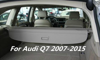 JINGHANG Car Rear Trunk Security Shield Cargo Cover For Audi Q7 2007.2008.2009.2010.2011.2012.2013.2014.2015 Black Beige
