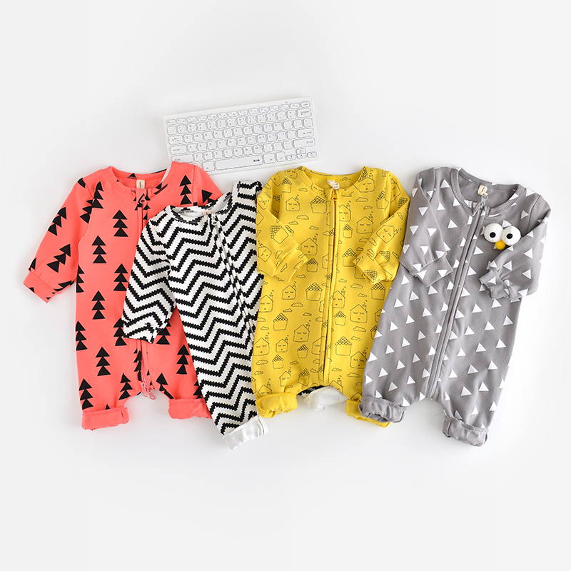 2017 Retail New Fashion cotton Baby Romper Clothing Body Suit Newborn Long Sleeve Kids Boys Girls Rompers for 3-18M newborn baby rompers baby clothing 100% cotton infant jumpsuit ropa bebe long sleeve girl boys rompers costumes baby romper