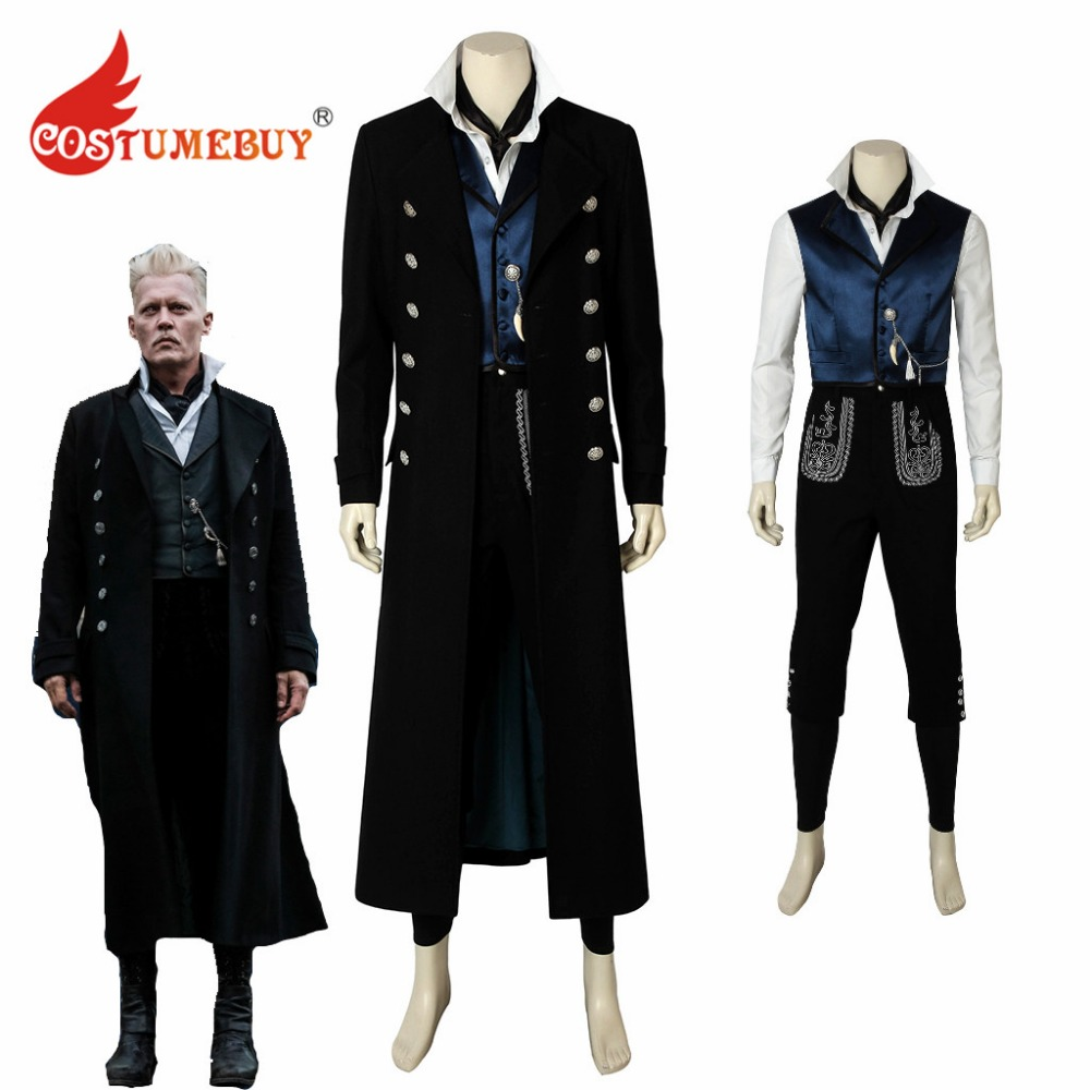 CostumeBuy Movie Fantastic Beasts The Crimes of Grindelwald Gellert Costume Grindelwald Mens Outfit Costume Any Size L920