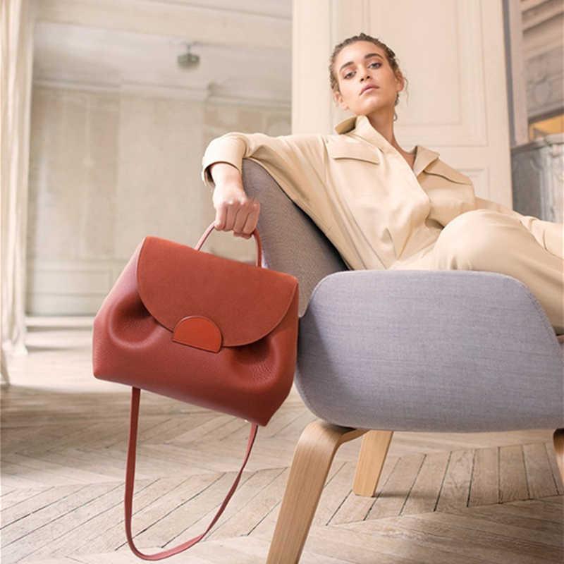 Senhora Estilo France Saco Corpo Cruz Designer De Luxo Balde Sacos Novo 2019 Saco de Ombro Das Mulheres de Couro Pequenas Bolsas Cadeia Elegent