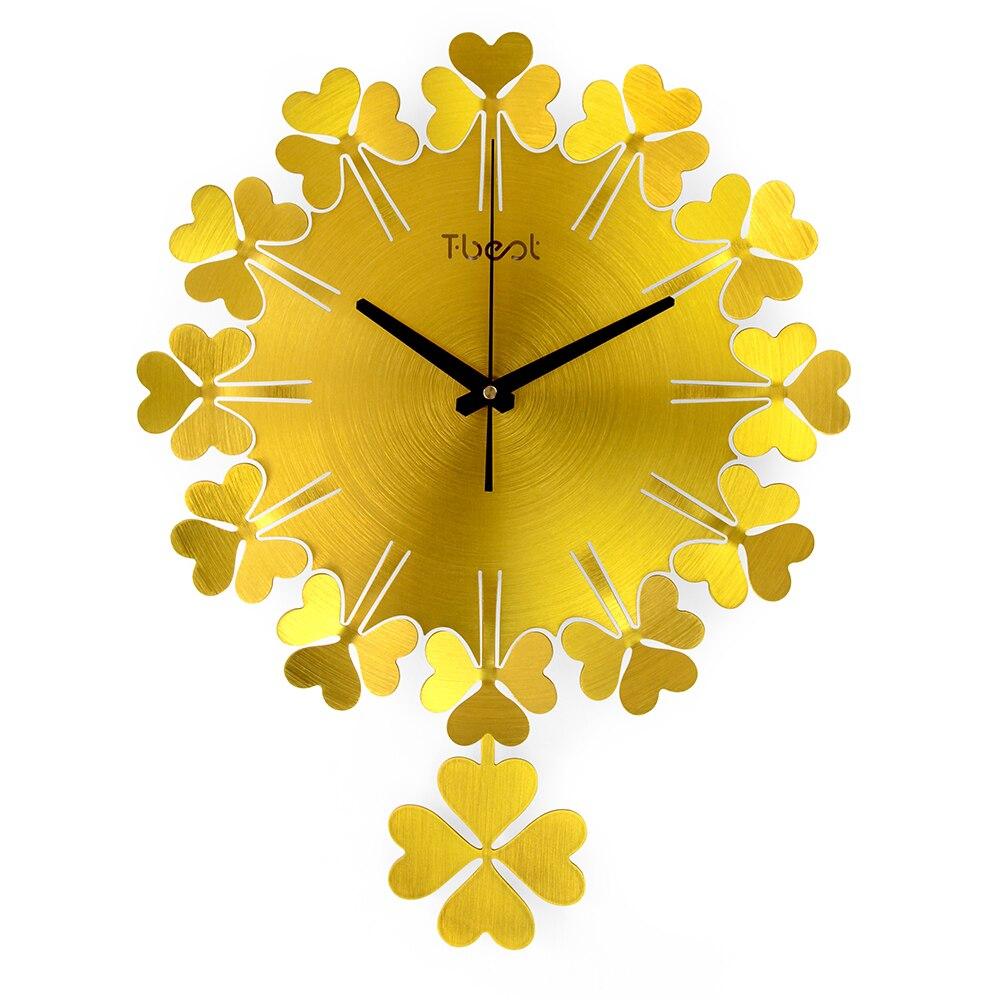 Creative Clover Wall Clock Modern Design Living Room/Bedroom Mute ...